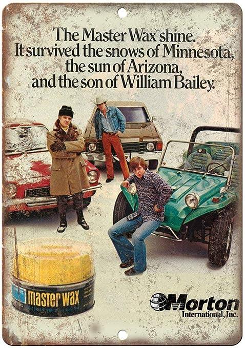 Shunry Morton Master Auto Wax Car Placa Cartel Vintage ...