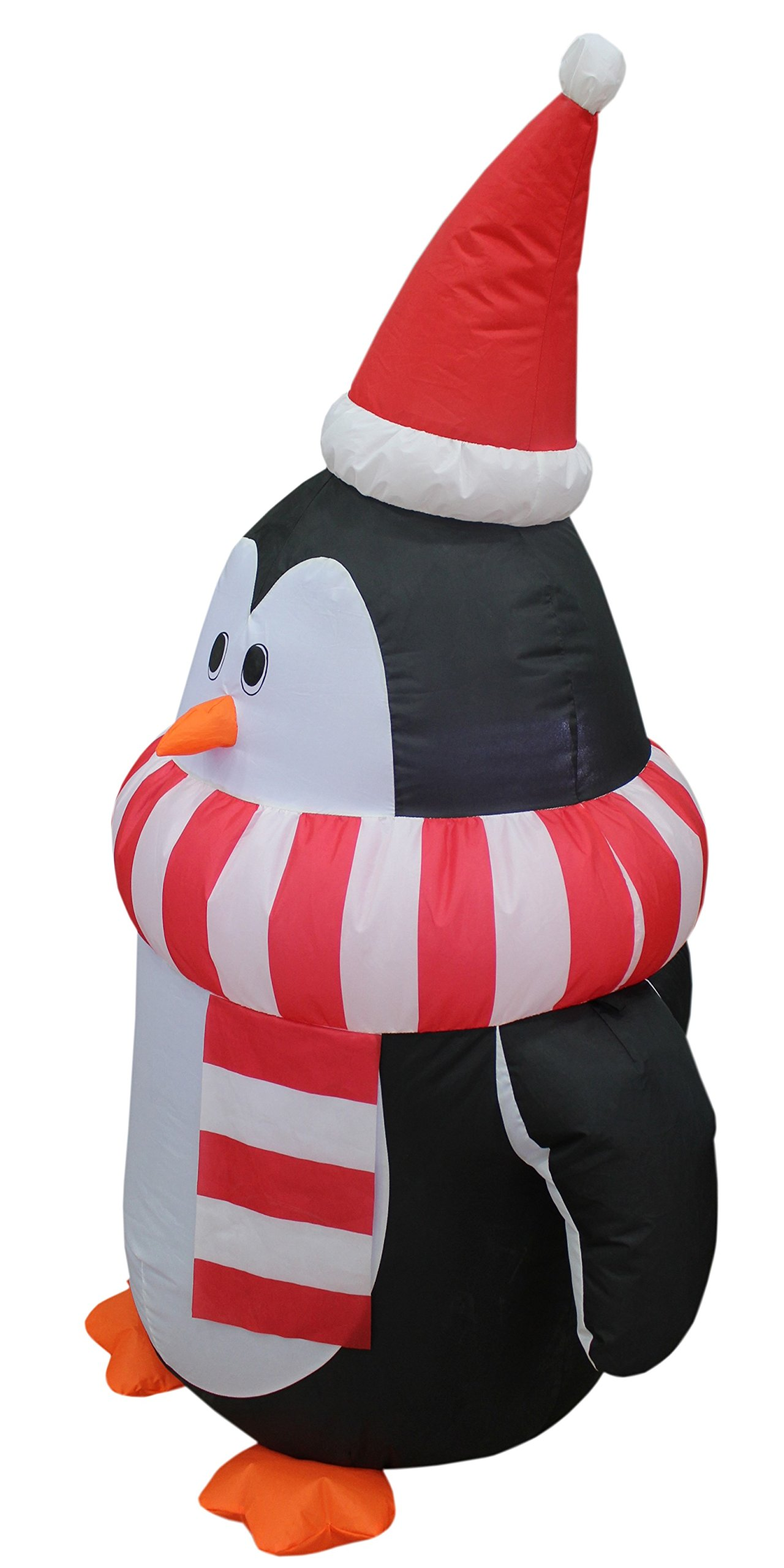 4 Foot Tall Christmas Inflatable Cute Penguin with Scarf Yard Decoration by BZB Goods (Image #3)