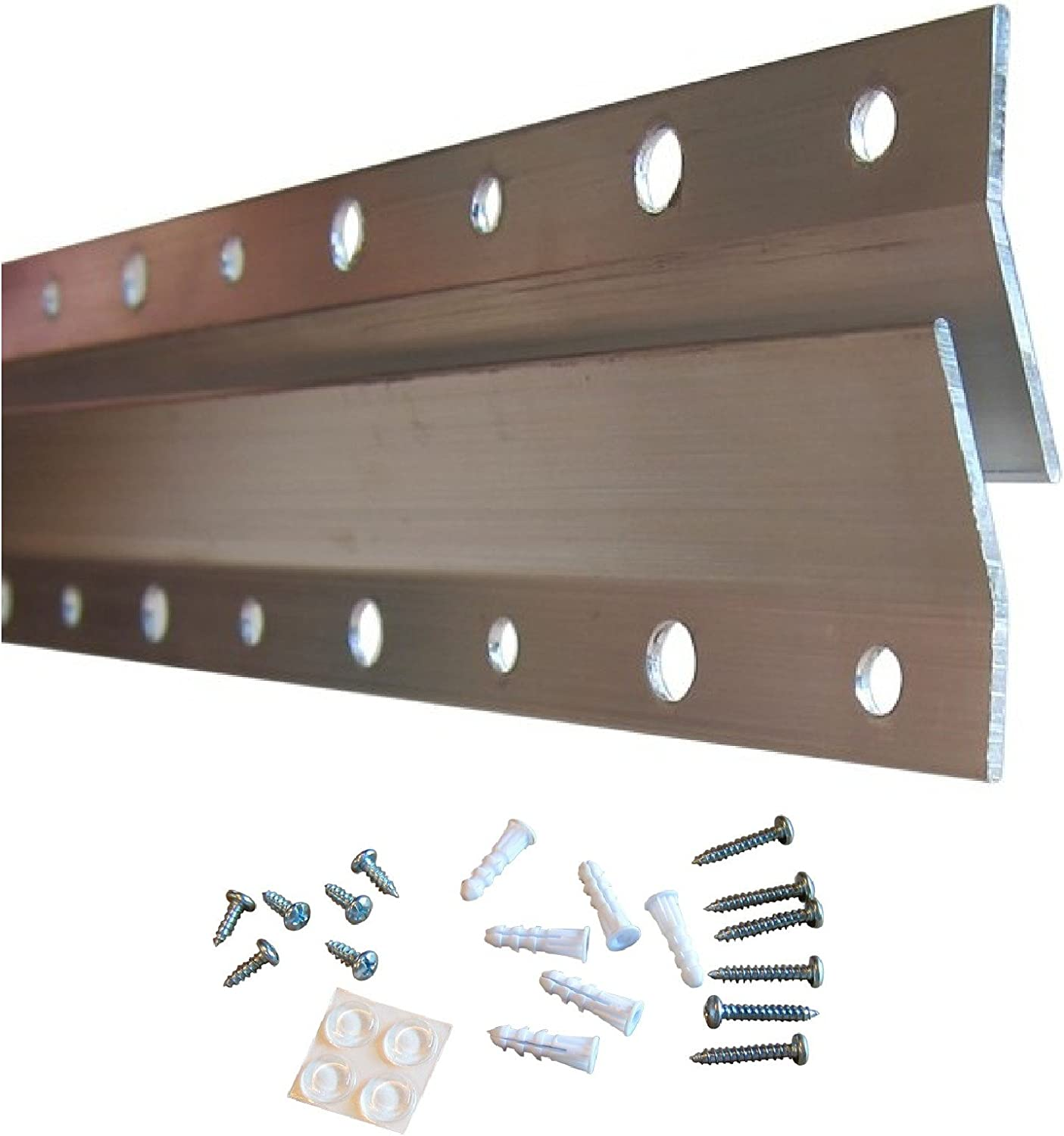 French Cleat Hanger 10 Inch - 2 Pack - Picture, Mirror, Whiteboard, Pallet or Panel Wall Mount Bracket - Z Bar Hanger Supports 50 lbs