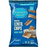 Saffron Road Baked Lentil Chips, Sea Salt, 4 Ounce (Pack of 12)