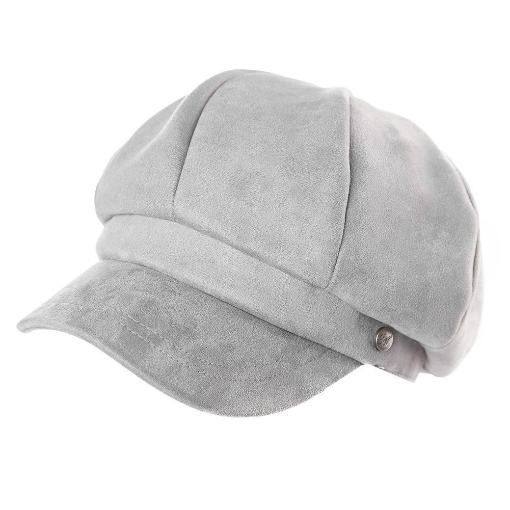 2671c049f68ffb Weiche Schirmmütze Bakerboy Mütze Damen 8-Panels Barett Mütze SIGGI Grau:  Amazon.de: Bekleidung