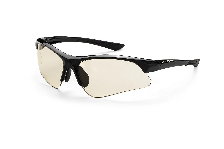 Icecube Sportbrille ADRISI | superleichte Sportbrille, individuell anpassbar mit phototropen Scheiben aus hightech-Material, mit festem Etui und Microfaserbeutel F6271376