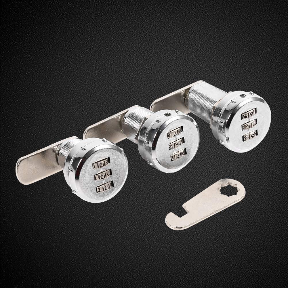 0.5~9mm Iron Sheet Cabinet Cerradura de combinacion de codigo Cerradura combinada de la combinaci/ón del c/ódigo de 3 d/ígitos cerradura codificada contrase/ña de la seguridad del gabinete
