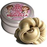 Don't Be A Bridezilla Stress Relief Putty – Stress Relief Bride Gifts Funny Gag Gifts for Bride-to-be Engagement Gift Gold Glitter Funny Bridezilla Weird Gifts Bachelorette Party Wedding Brida