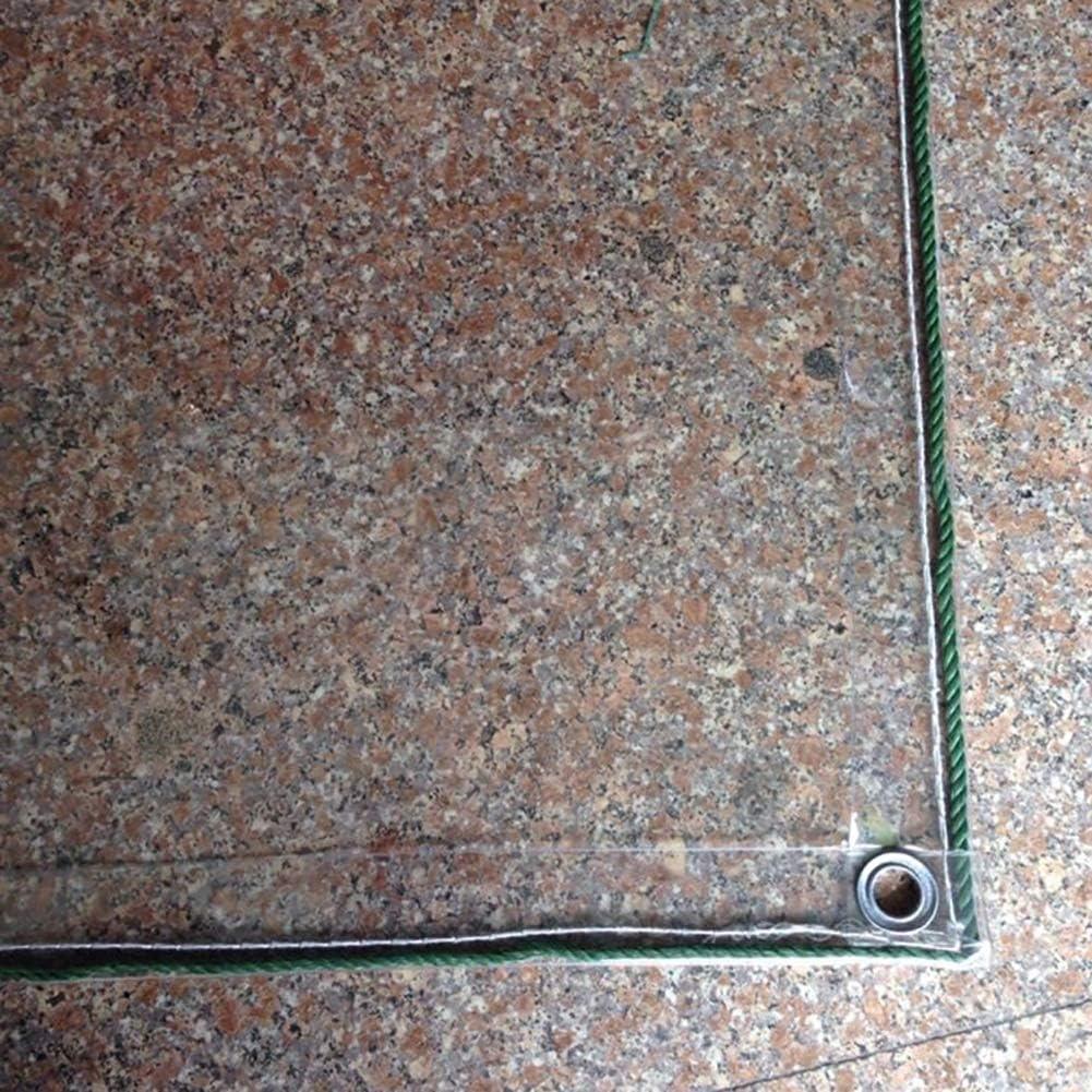 ZTMN Lona Transparente Extra Gruesa 1 mm, Tela Impermeable de PVC con Ojales, transmisión de luz para Ventana de suculentas de Mantel (tamaño: 2 mx2.1 m)