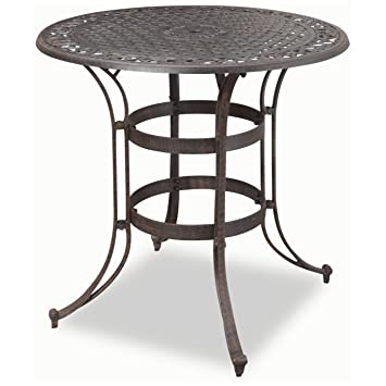 Home Style 5554 35 Biscayne High Top Bistro Table, Black Finish
