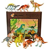 Dinosaur toy plastic figures boxed set of 12 - Large