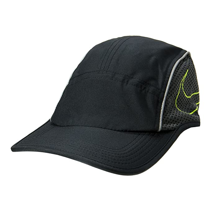ac9a53b5 Amazon.com: Nike AeroBill AW84 Running Cap Black/Anthracite/Volt Adult One  Size: Sports & Outdoors