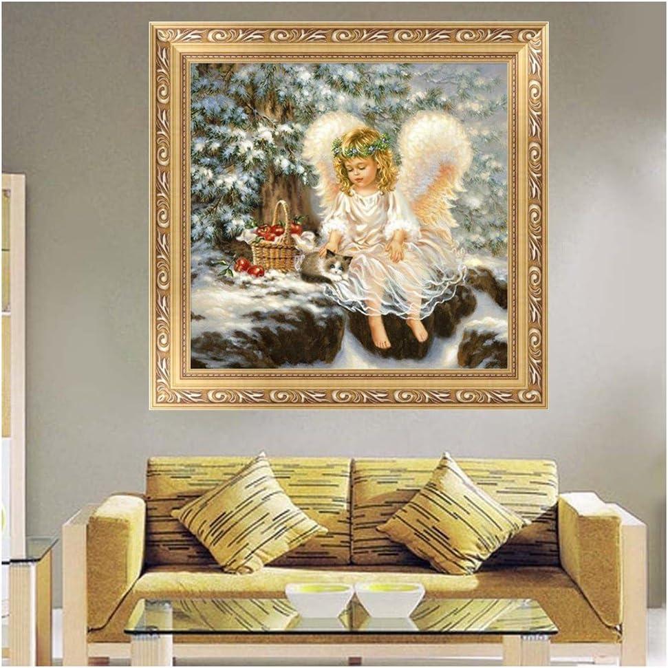 SODIAL 1 Set Petit Ange Diamant Broderie Peinture D/éCor /à la Maison Point de Croix DIY Artisanat