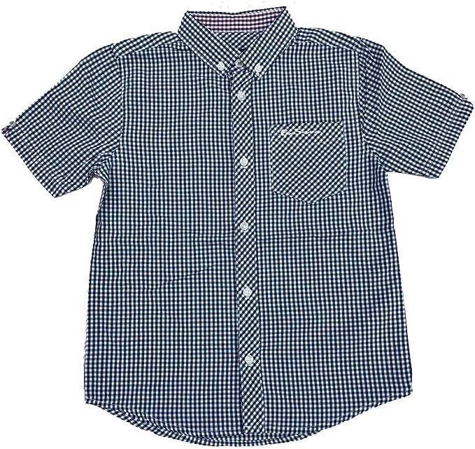 Ben Sherman Niños Camisa de Cuadros Vichy Pino Grove (Verde Oscuro Cuadros) 7Y-1 - Pino Grove (Verde Oscuro), 14-15 Años 164-170cm: Amazon.es: Ropa y accesorios
