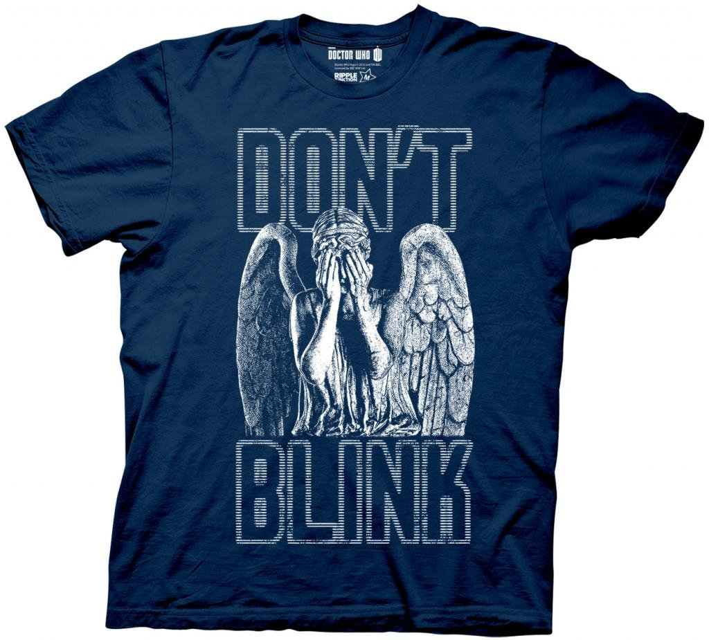 Ripple Junction Doctor Who Don't Blink Weeping Angel Covering Face Men's Navy Blue T-shirt