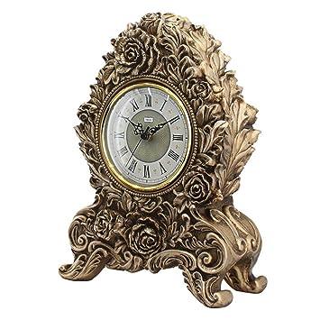 KHSKX Europäische Uhren Wohnzimmer modern moderne Uhr Blumenuhr ...