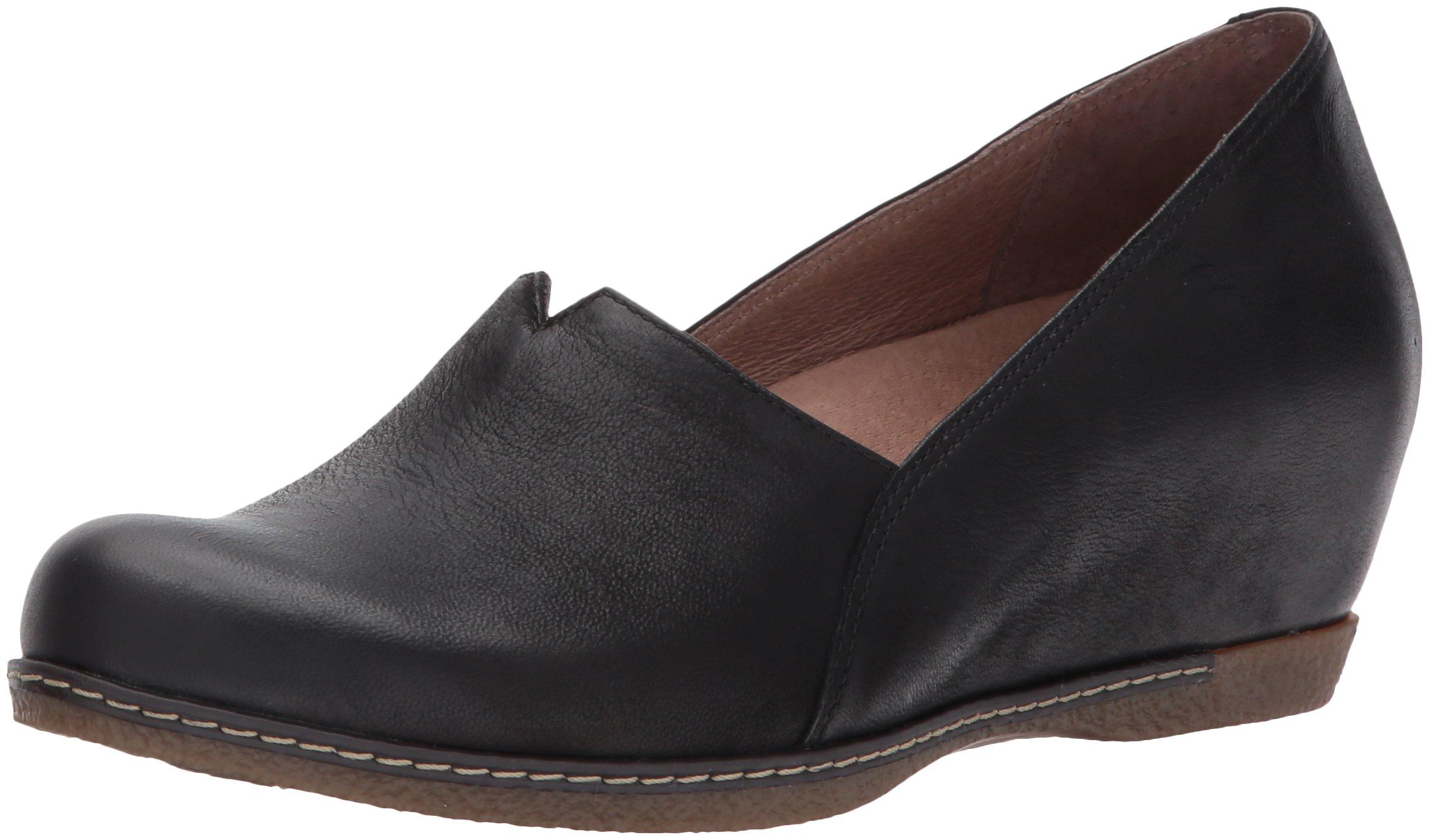 dansko Women's Liliana Loafer Flat, Black Burnished Nubuck, 39 M EU (8.5-9 US) by Dansko