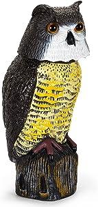 Owl Sculpture for Garden, Waterproof Plastic Realistic Vintage Owl Shape Decorative Statue for Outdoor, Indoor, Home, Yard, Owl Lovers