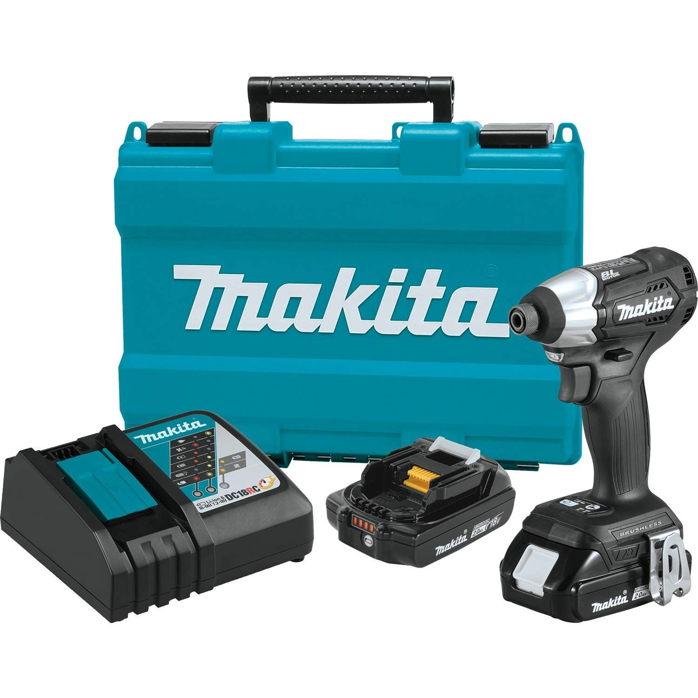 Makita XDT15RB 18V LXT Lithium-Ion Sub-Compact Brushless Cordless Impact Driver Kit (2.0Ah)