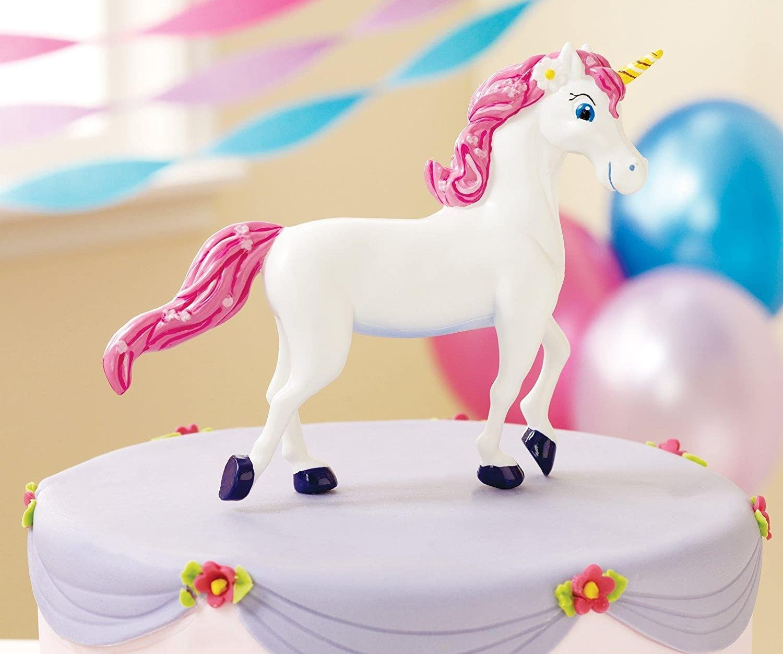 Amazoncom Enchanted Unicorn Party Supplies Cake Topper Toys