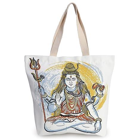 Amazon.com: iPrint Fun Canvas Tote Bag,Yoga,Legendary Four ...