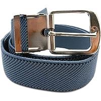 Cinturón Elástico para los Niños 1-6 años, Plateado Hebilla Diseño