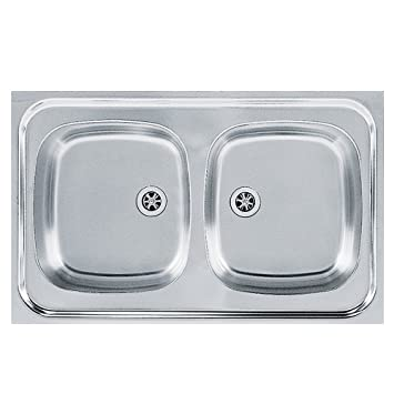 Franke 103.0205.575/lino fregadero de cocina con doble de acero inoxidable Bowl de Franke Sara SXL gris