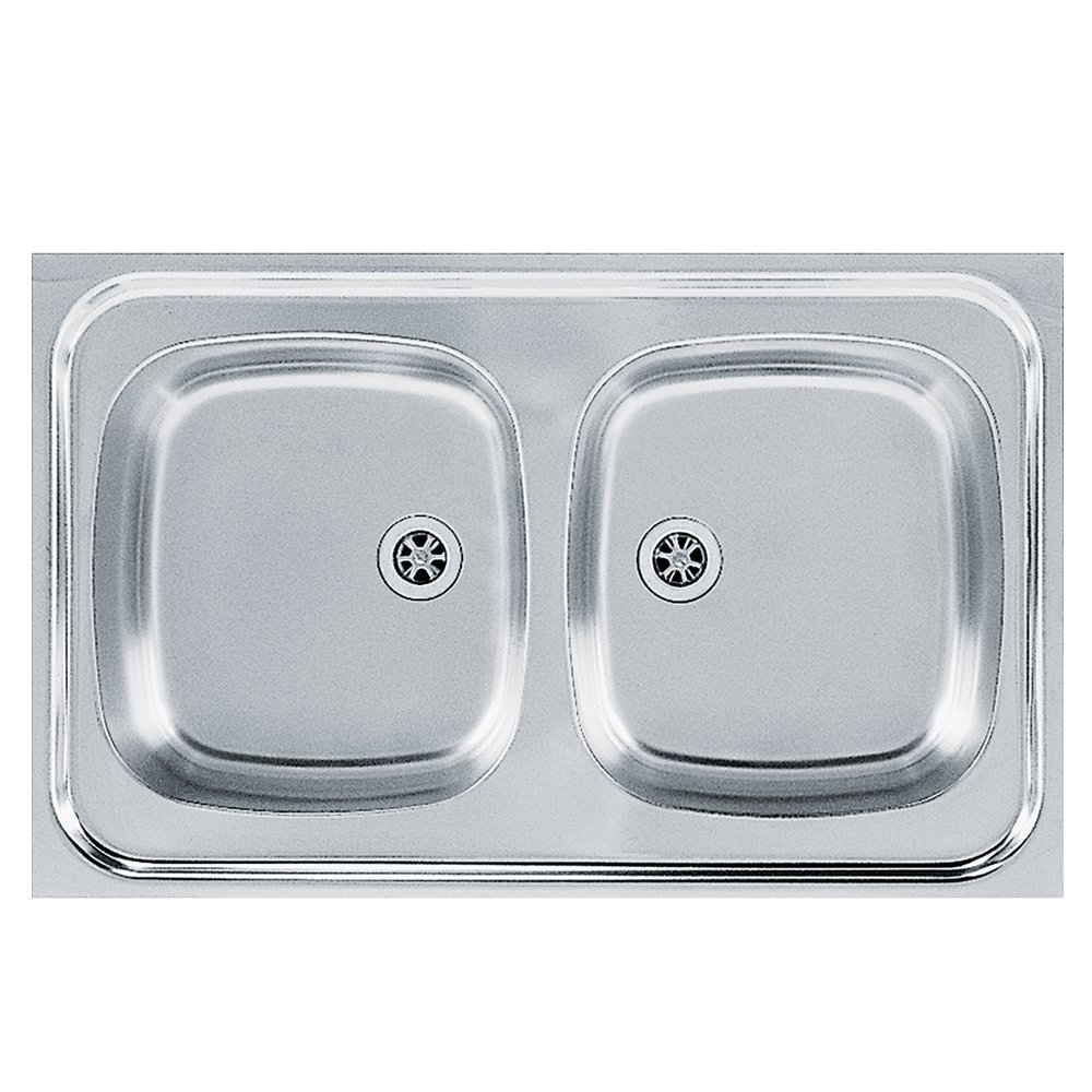 Franke 103.0205.575 Stainless Steel Linen Kitchen Sink with Double Bowl Sara Sxl, Grey