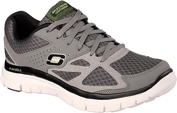 Skechers51252 - Skechers 51252 Hombre , Gris (gris, carbón, (charcoal/gray)), 47 EU: Amazon.es: Zapatos y complementos