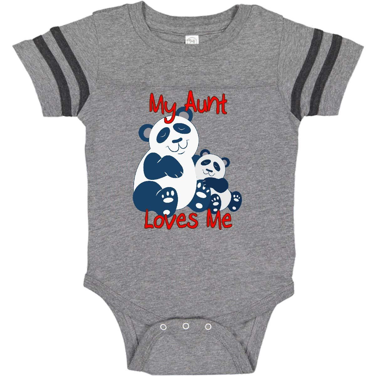Baby Vests Bodysuits Baby Grows Graphic Print My Auntie Loves Me not Football
