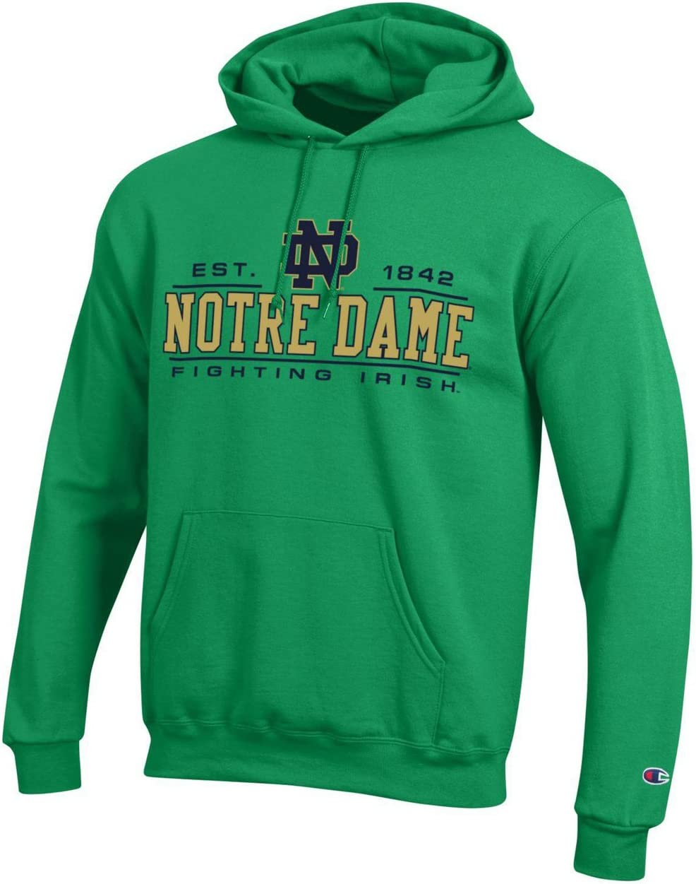 Notre Dame Fighting Irish Adult Arch Logo Classic Hoody Navy