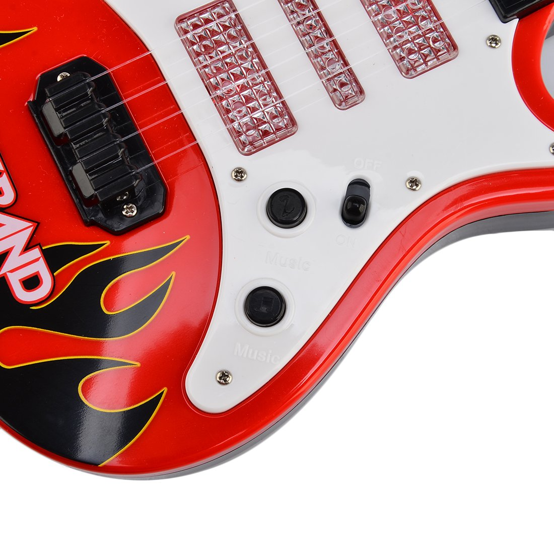 Red Flame RuiyiF Guitar for Toddler Kids Beginners Toy Guitar for Boys Girls 21Inch