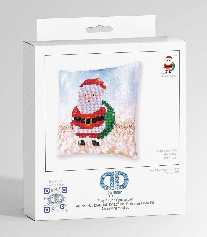 ideal auch als Geschenk Pracht Creatives Hobby DDP2-018 Diamond Dotz Kissen Engel 18 x 18 cm gro/ß Kissenbezug mit Diamantbild zum Selbstgestalten Malen mit Diamanten ca