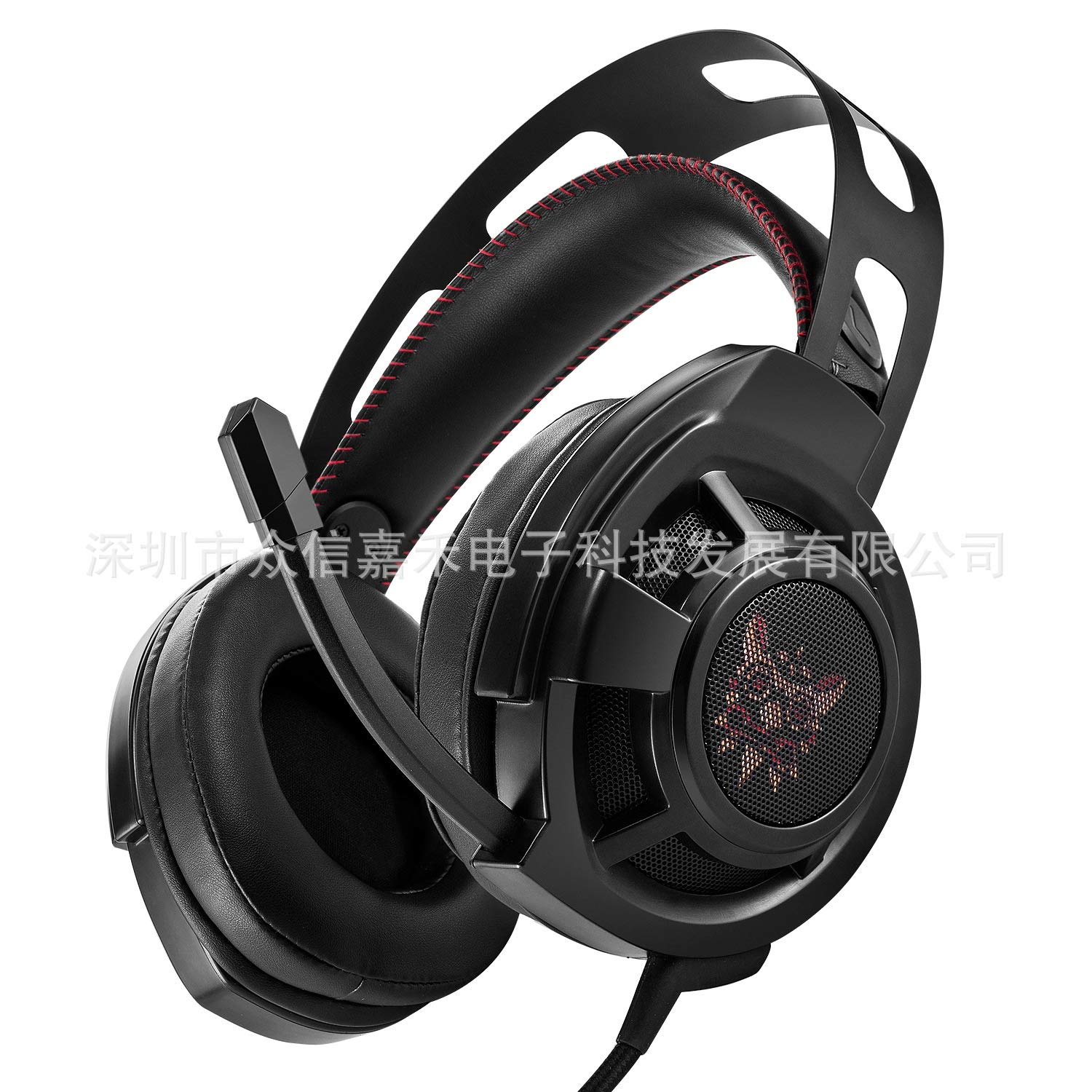 HUAN Gaming Headset,ONIKUMA M190 Computer Esports Gaming Headset Head-Mounted Anti-Noise Subwoofer Headphones for PS4, PC, Xbox One Controller