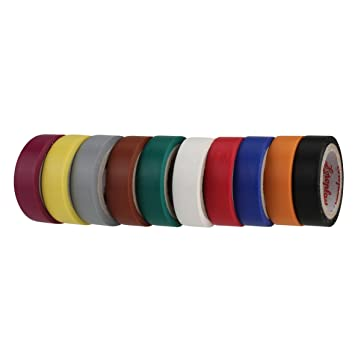 Coroplast Pvc Isolierband 10 Stuck 0 15 X 12 Mm Farbig Sortiert
