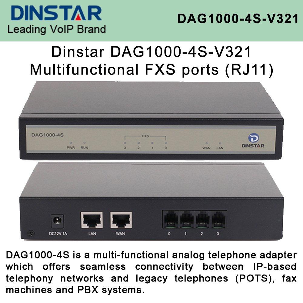 Dinstar DAG1000-4S-V321 Multi-Functional 4xFXS ports (RJ11)