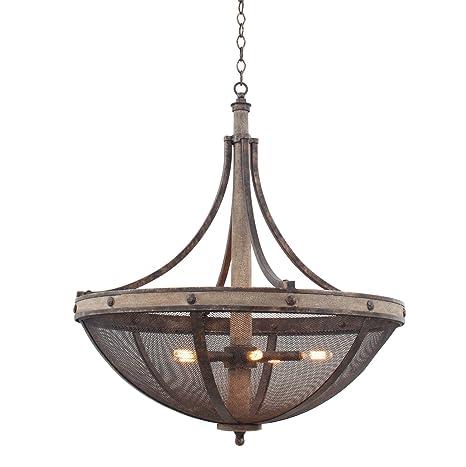 Amazon.com: kalco 7045 FG Coronado 6 lámpara de techo ...