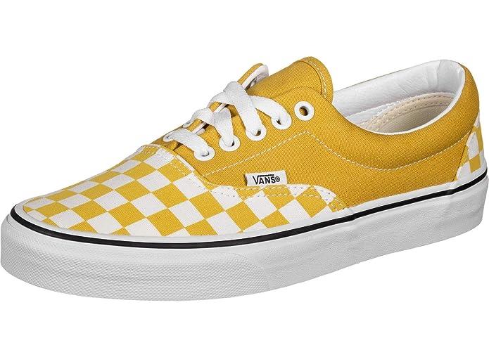Vans Era Sneakers Gelb-Weiß Kariert/Gelb Damen Herren Unisex Größe EU 39