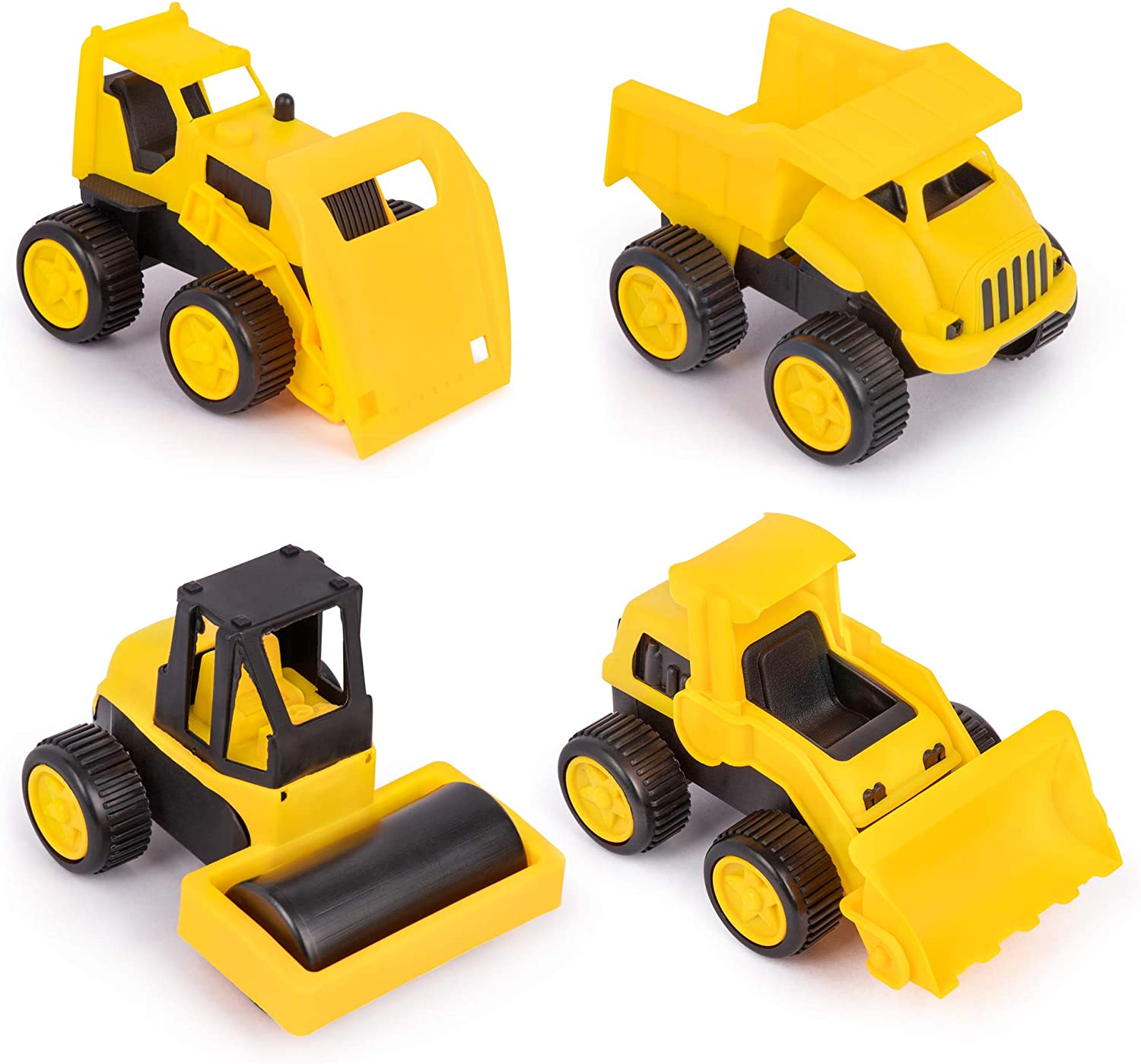 ROBOBLOX 4 in 1 DIY Construction Kit Forklift Sand Truck and Bulldozer Crane