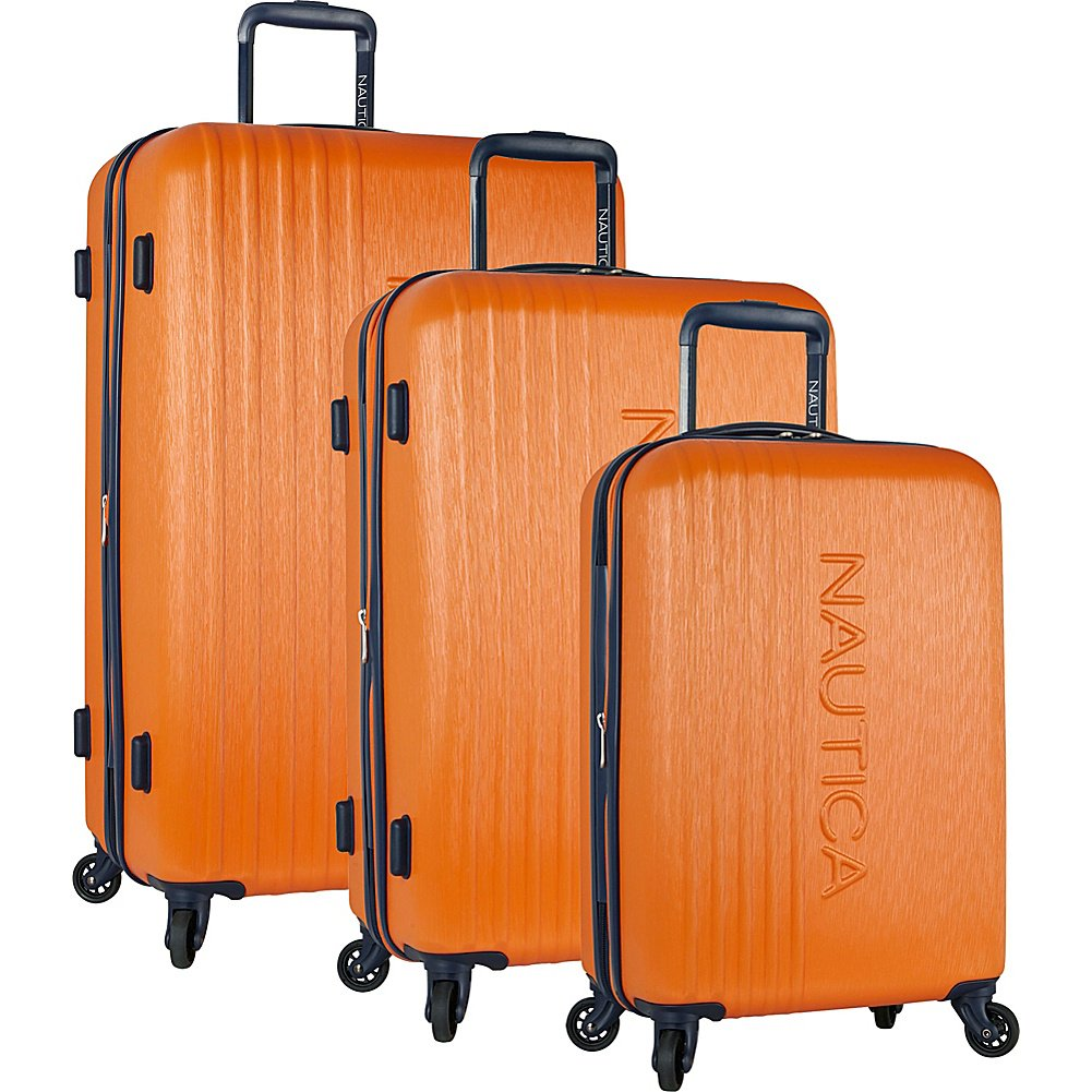 abf53d949ddf Nautica 3 Piece Hardside Spinner Luggage Suitcase Set