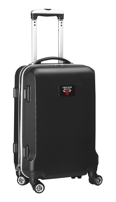 Denco NBA Chicago Bulls Carry-On Hardcase Luggage Spinner, Black