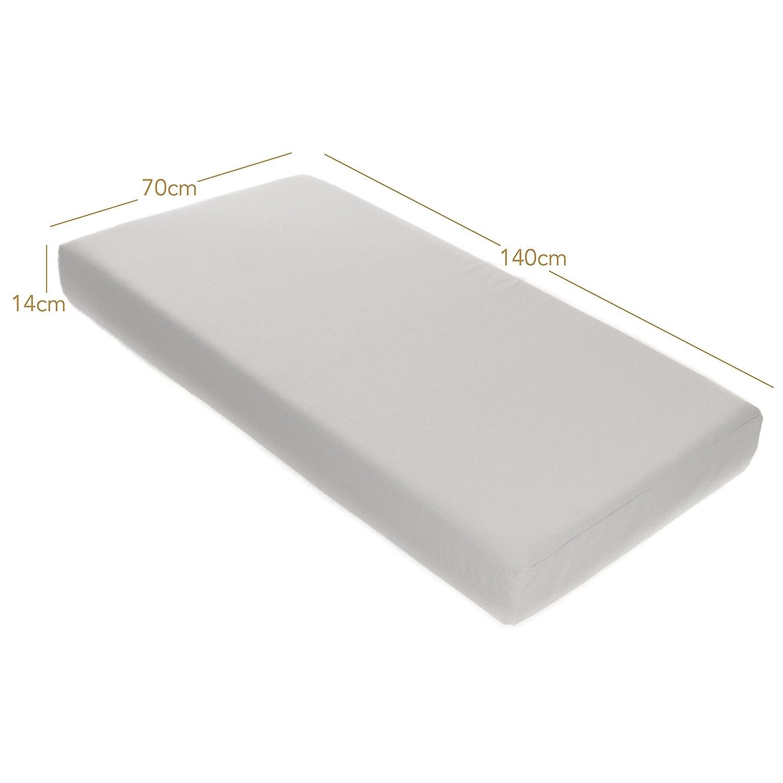 Milliard Doble cara hipoalergénico cuna cama colchón/Junior cuna colchones con cubierta resistente al agua lavable 140cm x 70cm: Amazon.es: Bebé