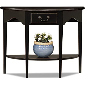 Amazon Com Powell Antique Black With Sand Through Terra Cotta Demilune Console Table Kitchen