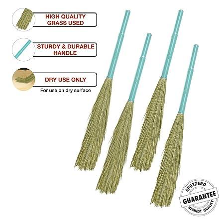 SpotZero By Milton Shubhra Grass Broom Set of 4