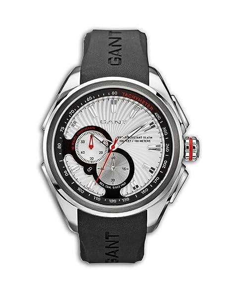 988e8e2a60b5 Gant Reloj Cronógrafo para Hombre de Cuarzo con Correa en Caucho W10583   Amazon.es  Relojes