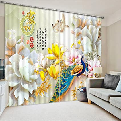 Amazon Com Lb Flower 3d Window Curtains For Bedroom Living Room