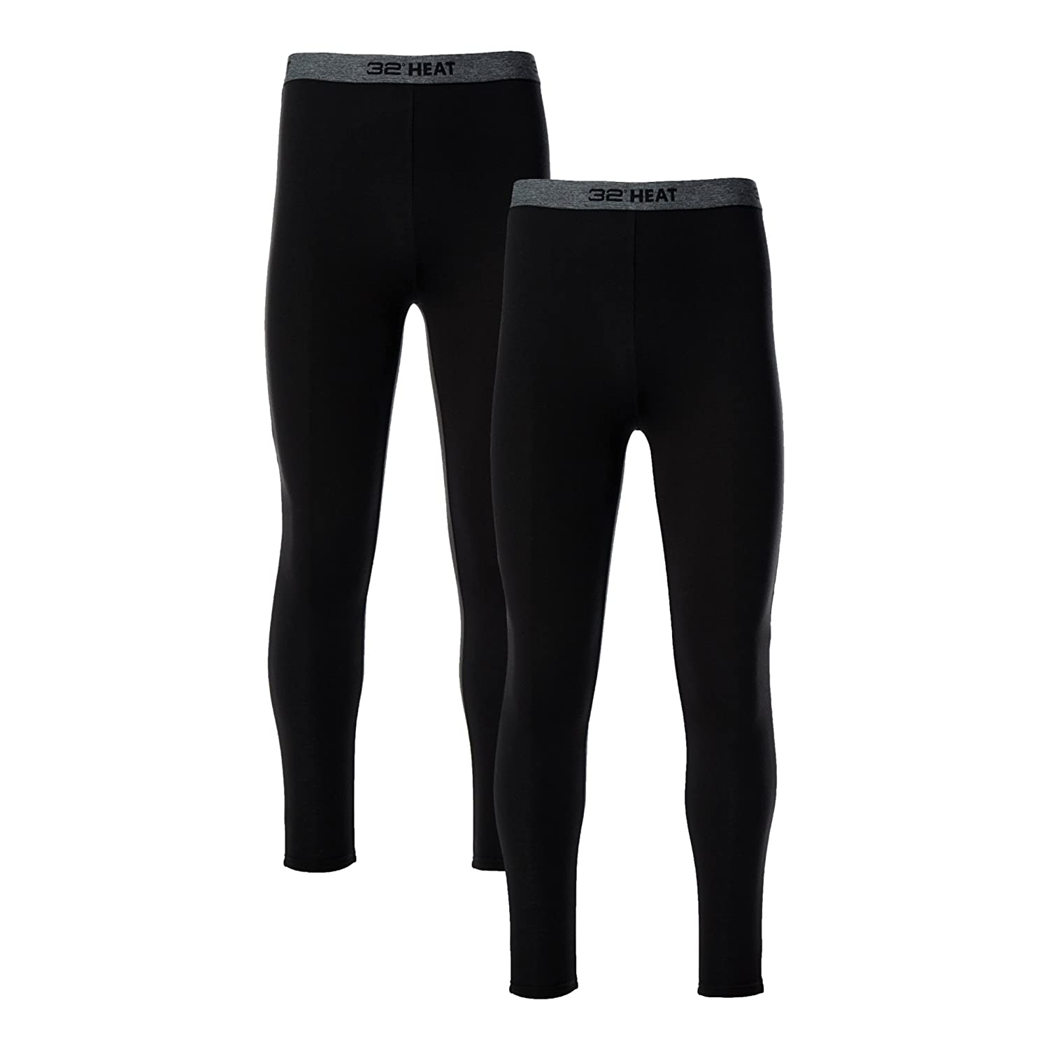 32 DEGREES Mens 2 Pack Heat Performance Thermal Baselayer Pant Leggings