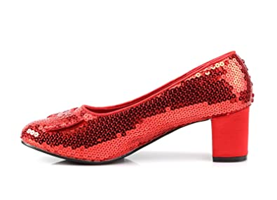 99f6fc4bceaf9 Dorothy Shoes Red Ruby Sequined Women's Shoes Dorothy-01