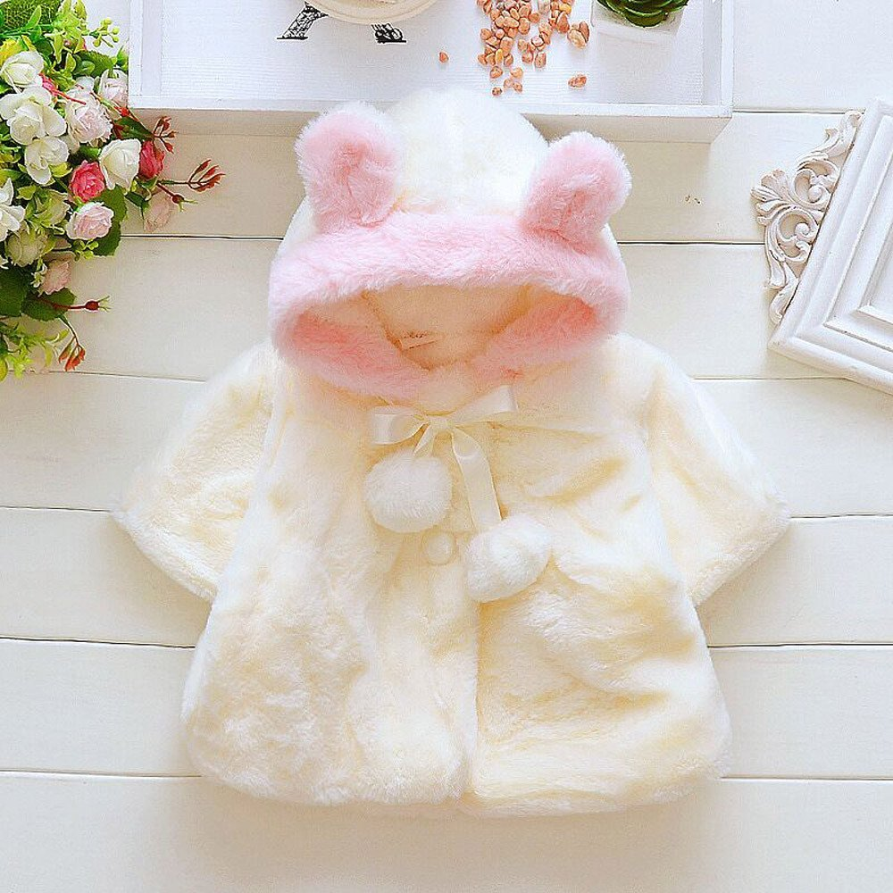 3832ea20b Muxika Dinlong Fashion Baby Girl Fur Winter Warm Coat Cloak Jacket Thick  Warm Clothes Din 95 larger image