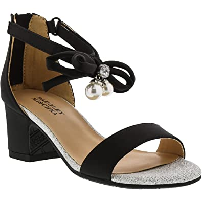 9d28fae02 Badgley Mischka Pernia Pearl Bow (Youth) Black