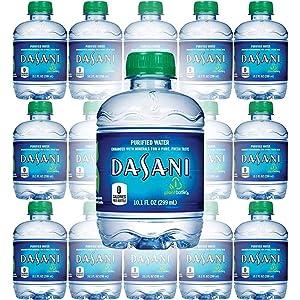Dasani Purified Water, 10 Fl Oz (Pack of 15, Total of 150 Fl Oz)