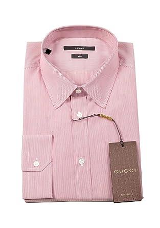 Gucci CL Striped Red White Dress Shirt Size 42/16, 5 U.S. Slim ...