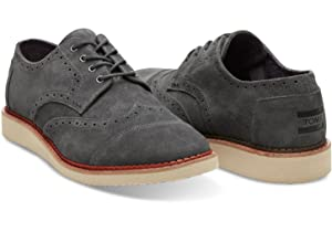 TOMS Classic Brogue - Men's (12 D(M) US, Forged Iron Grey)