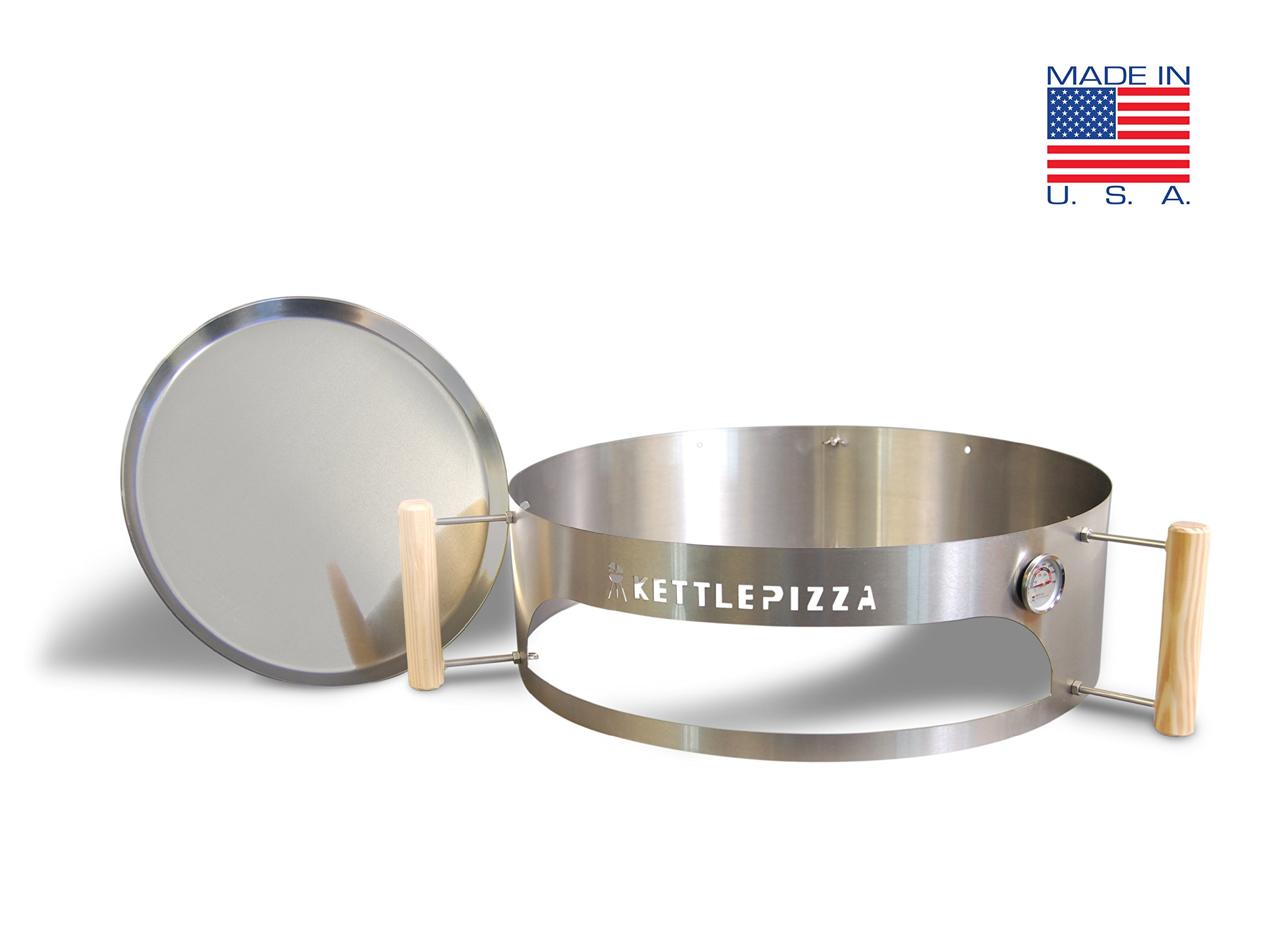 Made in USA KettlePizza Basic Pizza Oven Kit for 18.5 and 22.5 Inch Kettle Grills, KPB-22 by Kettle Pizza (Image #2)